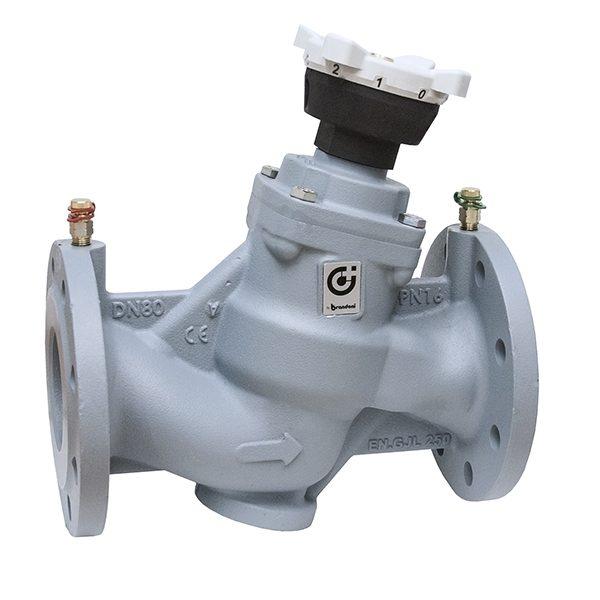 Ручной балансировочный клапан CALEFFI фланцевый