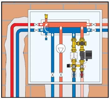CALEFFI SEPCOLL 559221 схема установка